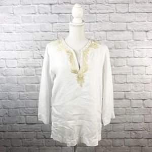 Lilly Pulitzer White Linen Tunic